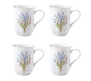 Mikasa Botanical Bouquet 14-oz Mugs - Set of 4 - K299226