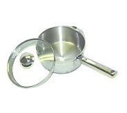 T-Fal Cook & Strain Stainless Steel 3-Qt SaucePan - K299626