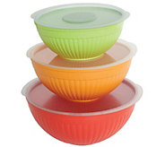 Nordic Ware 6-Piece Covered Bowl Set - K304826