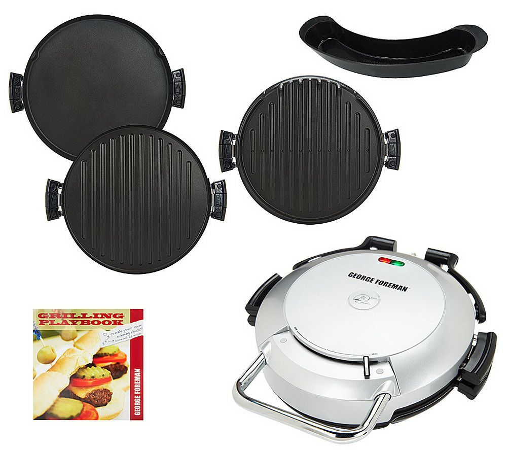 As is george foreman 360 grill with 2 removable plates - George foreman replacement grill plates ...