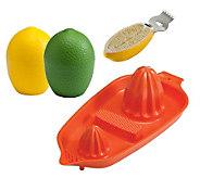 Gourmac Lemon/Lime Saver, Citrus Zester and Twin Juicer - K120327