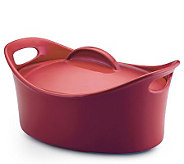 Rachael Ray Stoneware 4.25-Qt Covered Oval Casserole - Red - K131227