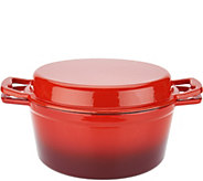As Is Cooks Essentials 5qt. Cast Iron Multi Function Dutch Oven - K308027