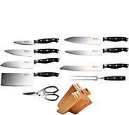Swiss Diamond 10-Piece Knife Block Set - K375427