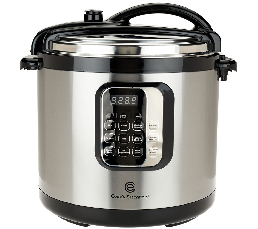 Kitchen small appliance essentials - Cook S Essentials 10qt Round Digital Stainless Steel Pressure Cooker K42027