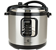 Cooks Essentials 10qt Round Digital Stainless Steel Pressure Cooker - K42027