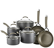 CooksEssentials Hard Anodized Dishwasher Safe 10-Piece Cookware Set - K42527