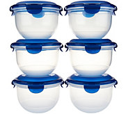 Lock & Lock 6 piece Tulip Bowl Storage Set w/ Color Lids - K43327