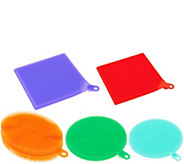 CooksEssentials Set of 5 Multi-Color Silicone Sponges - K44527