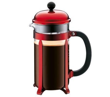 Bodum Italian Coffee Maker : Bodum Chambord French Press 34-oz Coffee Maker- Red QVC.com