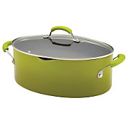 Rachael Ray Porcelain II 8-qt Covered Oval Pasta Pot - K300628