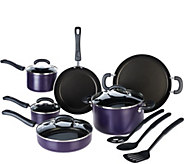 As Is Cooks Essentials 13pc Dishwasher Safe PorcelainEnamel Cookware Set - K307428