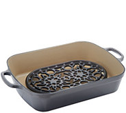 Le Creuset Cast-Iron 5.25-qt Roaster with Cast-Iron Trivet - K47028