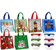 Lock & Lock 6 piece Bowl Set w/ 6 Holiday Gift Bags - K42529