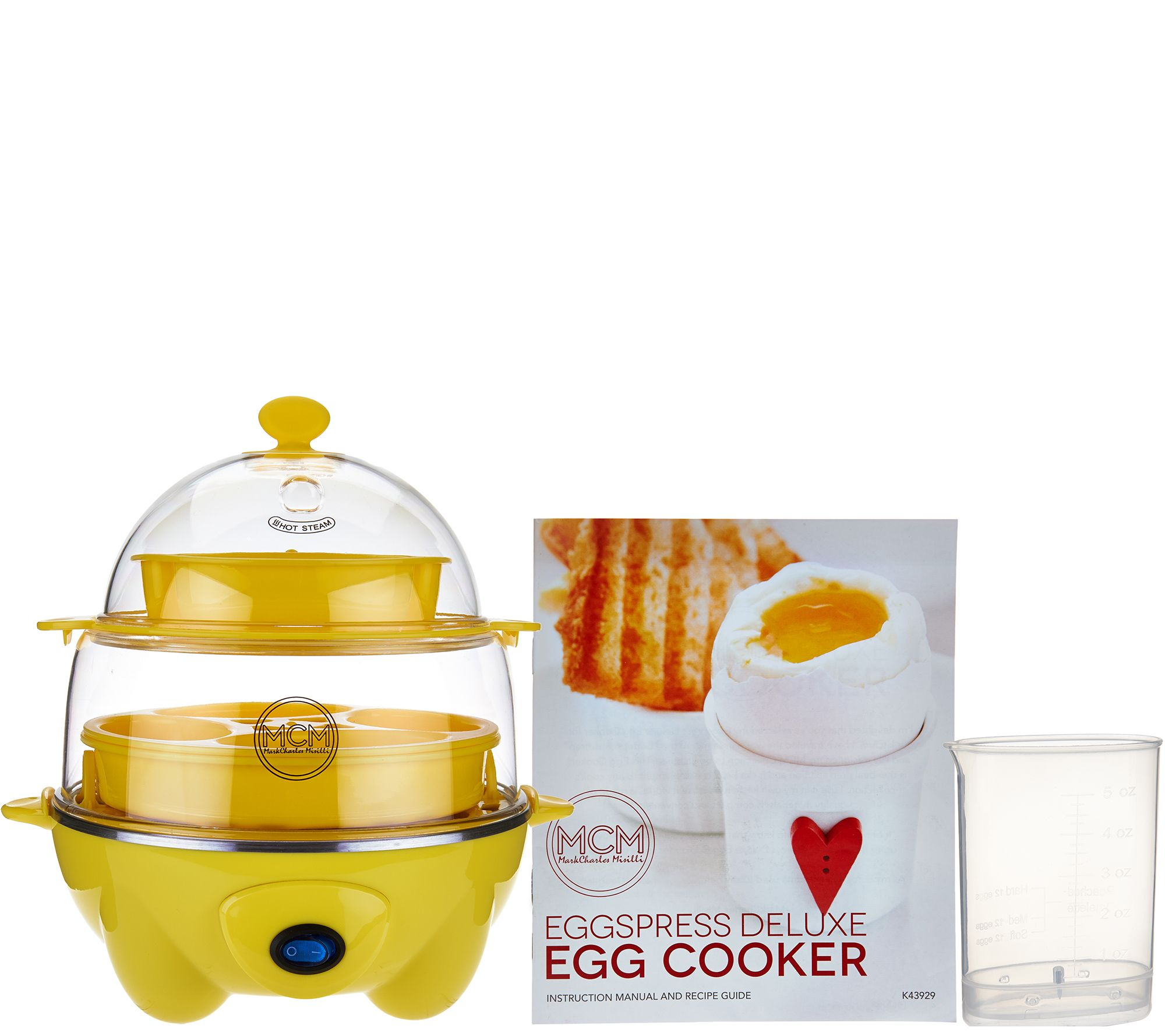 Qvc Card Making Ideas Part - 23: Eggspress Deluxe Egg Cooker W/ Recipe Book - Page 1 U2014 QVC.com
