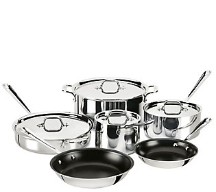 All Clad Stainless Steel 10 Piece Nonstick Cookware Set