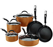 As Is Cooks Essentials Porcelain Enamel 10 piece Cookware Set - K307330