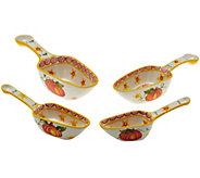 Temp-tations Set of 4 Old World Scoop and Measure Spoons - K40530