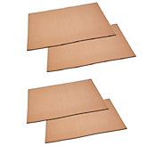 Copper Chef Set of 4 Grill and Bake Mats - K375231