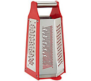 CooksEssentials Box Grater w/ 6 Grating Blades - K43631