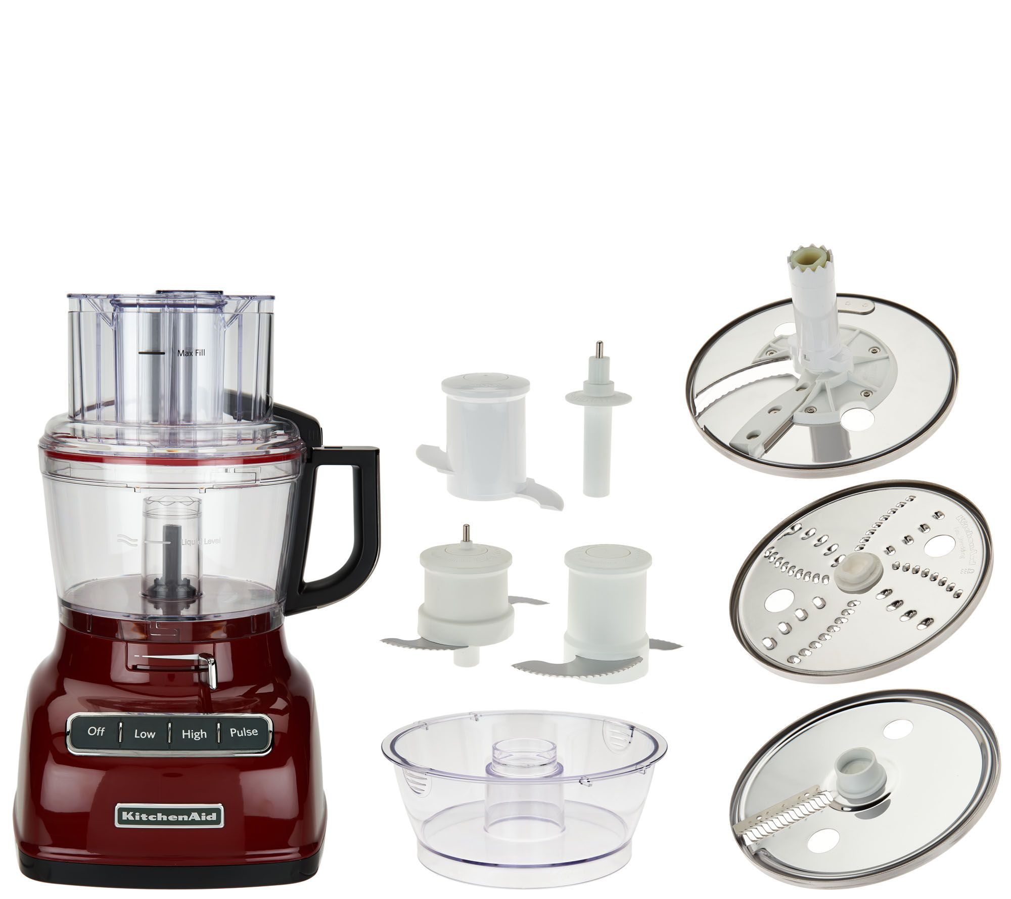Kitchenaid 9 Cup Exactslice Food Processor W Julienne Disc Page 1 Qvc