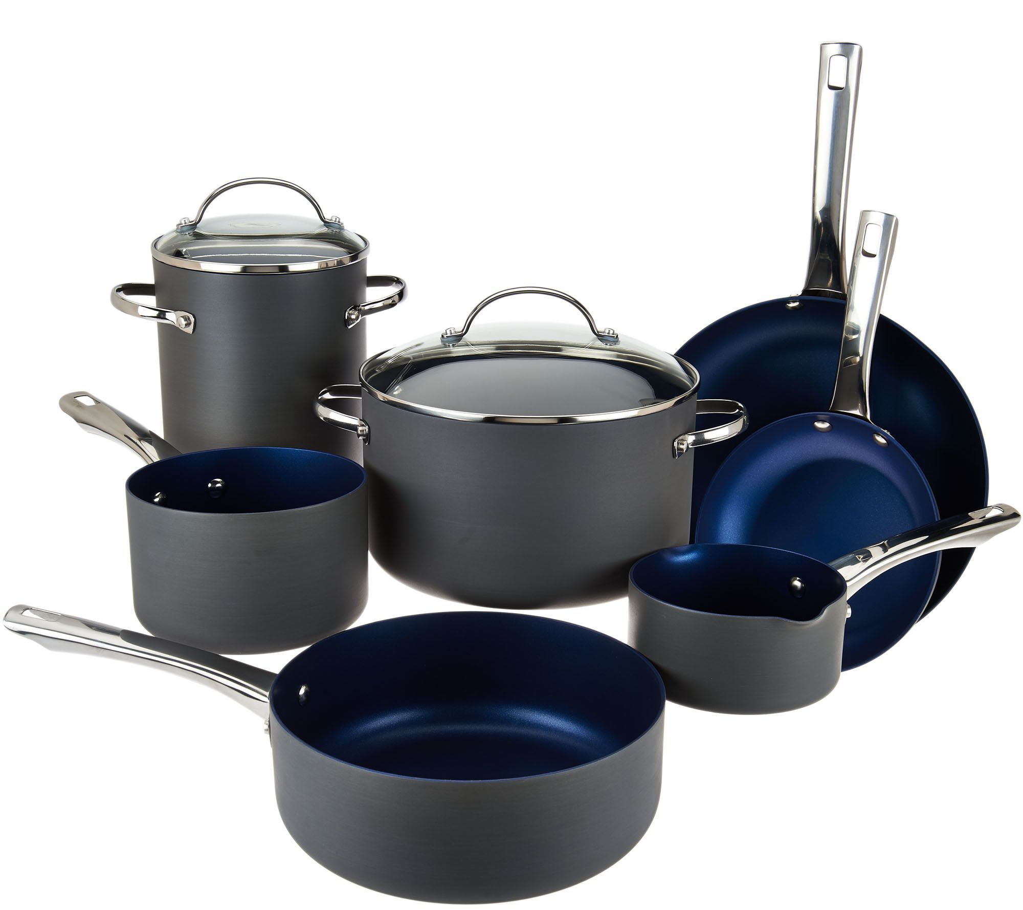 Cook's Essentials 10pc Non-Stick Hard Anodized Cookware Set - Page ...