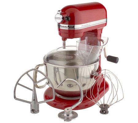 Kitchenaid 6 Qt 525 Watt Professional Stand Mixer Qvc Com