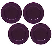 ChargeIt! by Jay Purple Round Charger Plates -Set of 8 - K297232