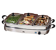 Elite Platinum Deluxe 3 x 2.5 Qt. Electric Buffet Server - K302132