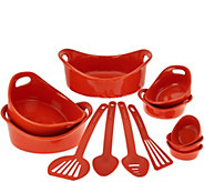 As Is Rachael Ray Bubble & Brown 12-piece Round Bakeware Set - K307732