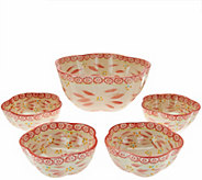 Temp-tations Old World 5-piece Pasta Bowl Set - K43532