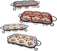 Temp-tations Old World or Floral Lace Set of 2 Muffin Pans - K44032