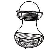 Gourmet Basics by Mikasa Rope Two-Tier Countertop Basket - K305033