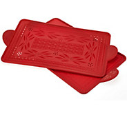 As Is Temp-tations Old World Set/2 Silicone Baking Boards - K307233