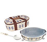 As Is Temp-tations Old World 3qt Oval Pack n Go Baker - K308033