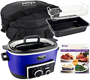 4-in-1 Ninja Cooking System w/ Recipe Book, Bake Pan & Travel Bag - K41333