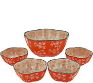 Temp-tations Floral Lace 5-piece Pasta Bowl Set - K43533