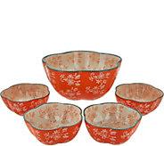 Temp-tations Floral Lace 5-piece Pasta Bowl Set - K43533
