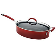 As Is Rachael Ray Gradient Hard Enamel 5qt Covered Oval Saute - K307434