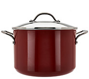 As Is Cooks Essentials 10qt Porcelain Enamel_Stock Pot w/ Handles - K307534