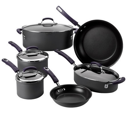Rachael Ray 10-piece Hard Anodized Dishwasher Safe Cookware Set