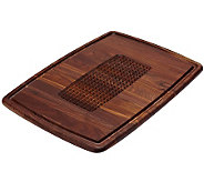 Snow River Pyramid Cut Walnut Wood Carving Board - K302635