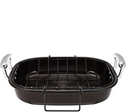 As Is Circulon Nonstick 16 Roaster with Rack - K307535