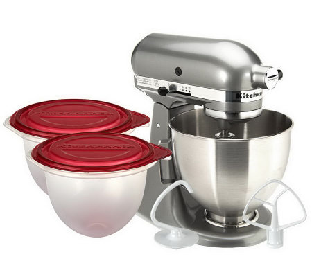 Kitchen Aid 5 qt. 325 Watt Tilt Head Stand Mixer w/2 Bowl Liners