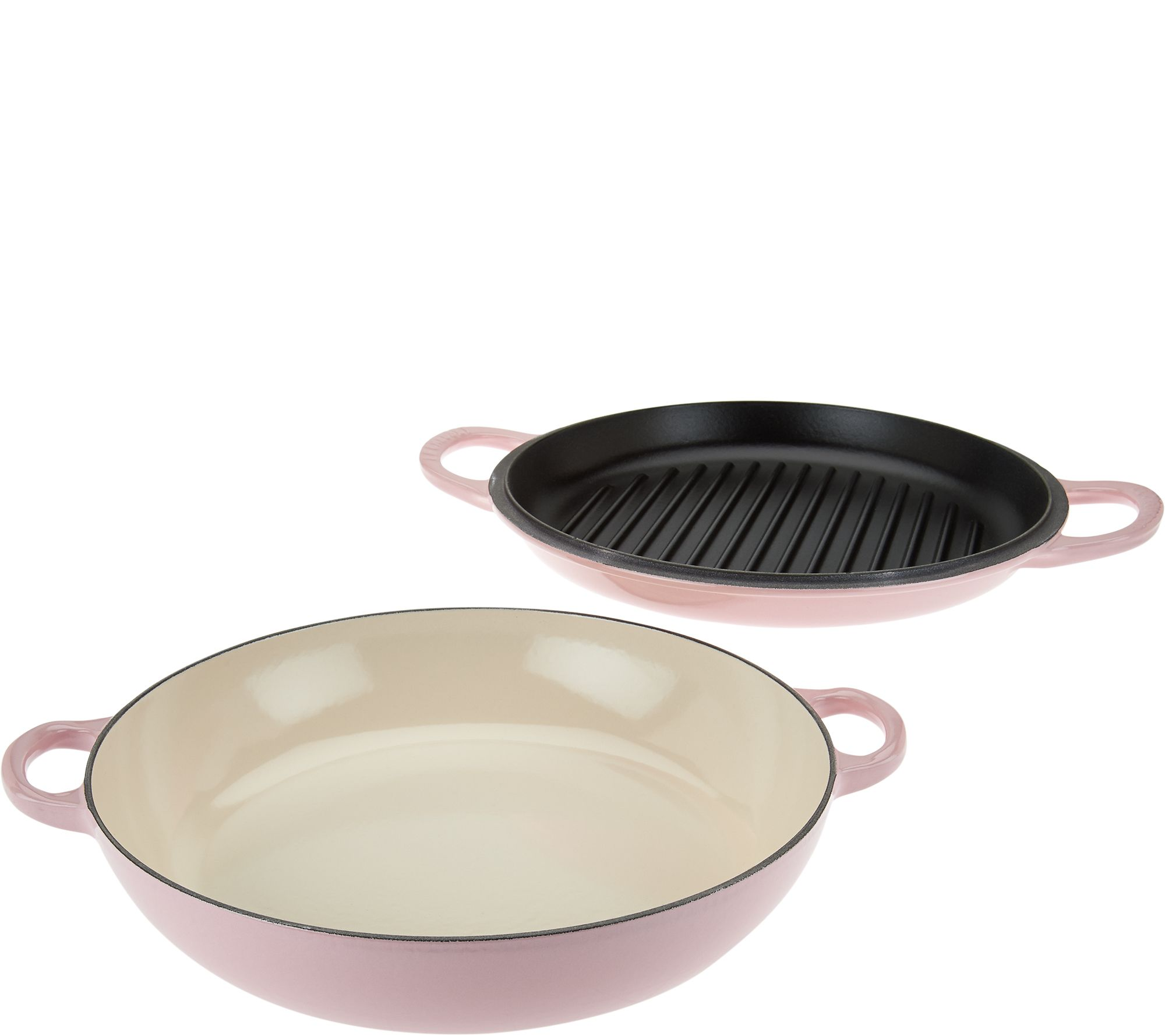 le creuset 3 5qt cast iron multi function pan with grill lid