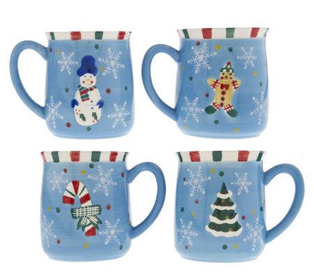 Temp Tations Traditions Set Of 4 Ceramic Mugs K18636