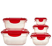 Lock & Lock 5-piece Zen Bowl Storage Set w/ Color Lids - K43336
