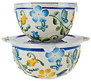 Temp-tations S/2 Butterfly Garden Nesting Bowls - K43536