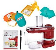 CooksEssentials Electric Mandoline Slicer & Dicer w/ 7 Blades - K44536