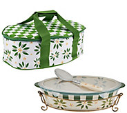 As Is Temp-tations Old World 3 qt. Pac nGo Baker w/ Accessories - K307437